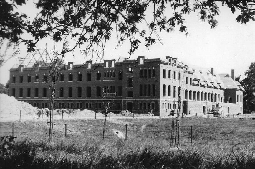 La construction de la maison de Ramegnies-Chin